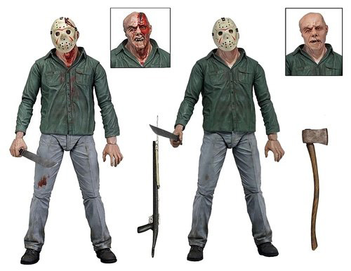 Hot Sale Jason From Horror Movie Friday The 13th Part 3 Ultimate 3D Cover 18CM NECA Action Figure <br>