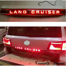 CAR ACCESSORIES TRUNK COVER LED REAR LICENSE PLATE REAR STAINLESS STELL PLATE HOLDER FOR LANDCRUISER FJ200 LC200 2016 2017
