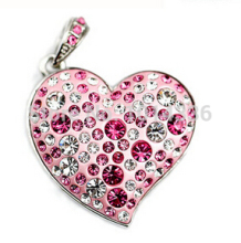 real capacity fashion lovely jewellery Heart Gift diamond  1/2/4/8/16/32GB USB Flash Drive Memory card Stick Pen S48 gift