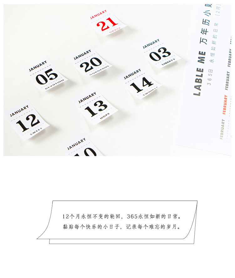 12 Sheets lot Creative Perpetual Calendar Stickers Diary Album Decorative  Stickers Flakes Office School Supplies Stationery - us319 87e67df76b51c