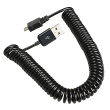 High Quality Spiral Coiled USB 2.0 A Male to Micro USB B 5Pin Adaptor Spring Cable Best Price