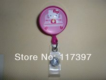 Hello Kitty Cutie Transparent Badge/ID holder 10pcs/lot(China)