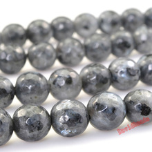 "Factory price Faceted Black Labradorite Beads 15"" Strand 4 6 8 10 12mm Pick Size For Jewelry Making Jd550"