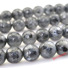 "Factory price Faceted Black Labradorite Beads 15"" Strand 4 6 8 10 12mm Pick Size For Jewelry Making Jd550(China)"
