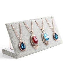 bincoco 25.5cm*8.5cm*11.5cm L shape holder for necklaces & pendants show 12 booths necklace display frame 2 Colors can choose