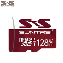 Suntrsi Microsd Real Capacity Micro sd Card 128GB Class 10 High Speed 64GB 32GB Micro SD Card 16GB for Phones Cameras Microsd