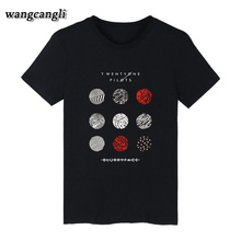 2017 Summer Twenty One Pilots T Shirt Women Cotton Short Sleeve T-Shirt Harajuku O Neck Men Couples Tops 4XL tee shirt women(China)