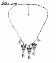 Brand Designer Zinc Alloy Spike Shourouk Chain Bijuterias Jewellery Simple Necklace Fashion Bijoux(China)