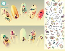 Rocooart DS011 Water Transfer Foils Nail Art Sticker Harajuku Colorful Little Element Nail Wraps Decals Manicure Decor Styling