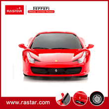 Rastar licensed 1/24 rc car Ferrari 458 Italia rc mini car car toys with remote control for kids gift 46600(China)