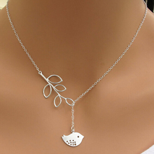 2016 Fashion silver plated simple hollow owl lucky infinity bird pendant necklace for women