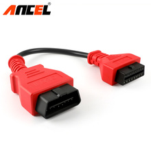 ANCEL OBD2 Cable 16Pin Extension Connector Male to Female Connector OBD OBD2 16 Pin Cable 12V automotive Car Diagnostic Cables(China)