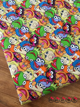 50*170cm Sesame Street family Thicker warmer knit fleece fabric For Sewing Patchwork baby quilt blanket shirt pajamas Cloth