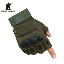 MEGE Tactical Men's Army Gloves, Man Half finger Airsoft gloves, Military Slip-resistant Combat Paintball gloves(China)