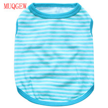 MUQGEW Summer Dog Vest Pet Small Dog Clothes Elastic Cute costumes Black And White Stripe Sleeveless 2017 New Design For dating
