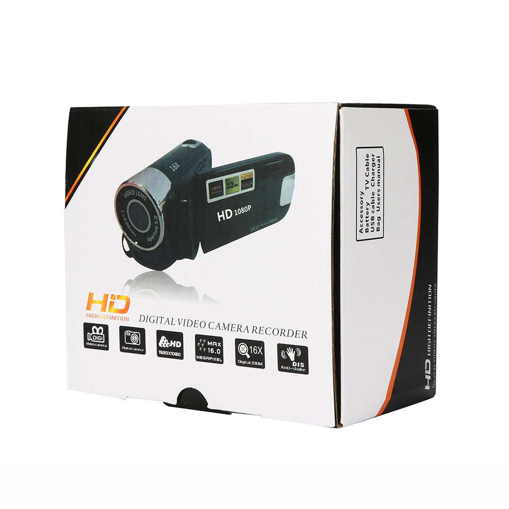 HD 1080P Digital Camera Video Camcorder HD 1080P Handheld Digital Camera 16X Digital Zoom 7