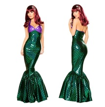 2017 NEW Mermaid costume Adult Halloween Mermaid costume Stage suit