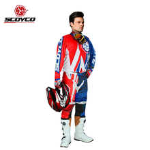 Moto Motorcycle Jacket Pants Set Suit Hip Pads Clothes Motocross Jerseys Offroad Cycling Racing Dirt Bike Riding Motocicleta(China)