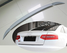 A6 C6 PU Car Trunk lip spoiler boot wing For Audi A6L C6 3PCS/SET Custom Spoiler 2005-2011