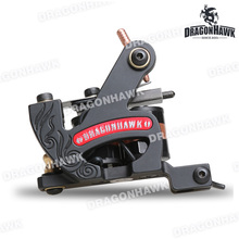 Newest Dragonhawk Fine Lining Tattoo Machine Iron 8 Wrap Coils Tattoo Guns Tattoo Supply