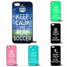 Keep Calm and Play Soccer Hard Phone Case Cover For Huawei Ascend P8 P9 Lite Xiaomi Redmi Note 4 3 3S Pro LG G3 G4 G5 K10 K8