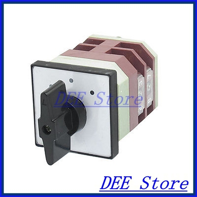 AC 500V 16A 8 Terminals 3 Positions Rotary Changeover Cam Switch LW12-16/2<br><br>Aliexpress
