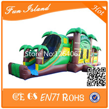 16x3x3.5M PVC Cheap Jungle Theme Inflatable Obstacle/Outdoor Bouncer Games For Kids(China)