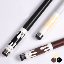 High Quality Maple Pool Cues Billiards 11.75mm/12.75mm Tip White/Black/Brown Colors China 2017