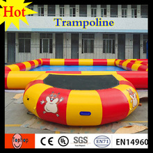 2016 factory price 3x2m yellow red color cheap air bouncer inflatable trampoline rental 0.9mm PVC tarpaulin(China)