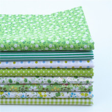 "(8 pieces/lot) green cotton diy patchwork floral fabric textiles for bags curtain tissue 40*50cm (15.7""x19.7"")"