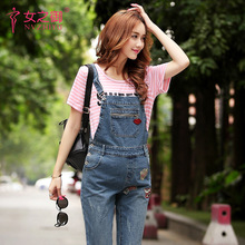 Brand Design Maternity Denim Pant Belly Denim Overalls Maternity Jeans for Pregnant Women Pregnancy Pants Autumn Spring Trousers(China)