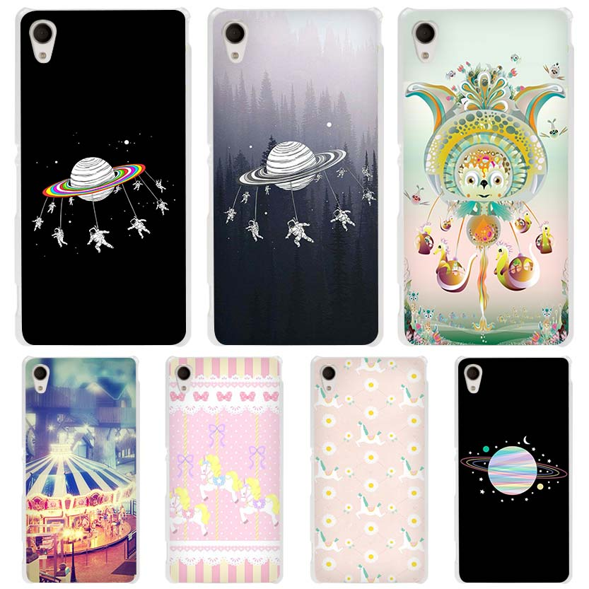 Astronauts Merry Go Round Planet Space Clear Case Cover for Sony Xperia z1 z2 z3 z4 z5 m4 Aqua m5 X XA XA1 XZ E4 E5 Compact C4 C(China (Mainland))