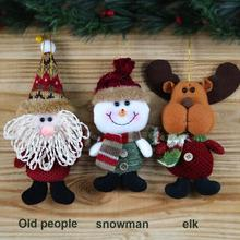 Kids Cute Santa Claus Snow Man Reindeer Dolls Action Figures Toys Children Christmas Decoration Xmas Tree Hanging Pendant Gifts
