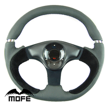 SPECIAL OFFER Original Logo 350mm 14 inch Suede Leather Racing Car Steering Wheel(China)
