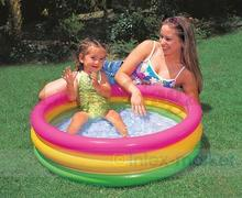 Intex Inflatable Child Pool Kid Float Inflatable Swimming Pool Frame Pool Set Filter Juegos Piscina Inflable Bathtub Bath Air(China)