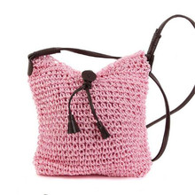 Fashion Woven Straw Bags Straw Women Weave Crossbody Small Travel Handbag Mini Brand Handbag Burlap Jute Pouches Beach Bags