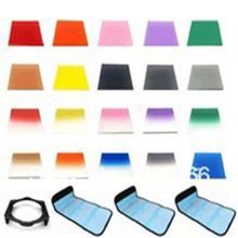 24in1 Gradual Square Colour Full Color Filter  Case ND fitler holder for canon nikon sony camera Cokin P series red  blue pink