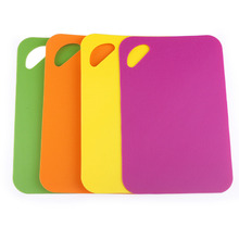 4 sets of flexible pp plastic kitchen cutting board color(China)