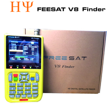 [Genuine]digital satellite finder FREESAT V8 finder signal search meter V8 finder for DVB-S/S2 with 3.5 inch LCD Colour Screen