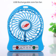 Free Shipping  Usb Fan Mini Electric Personal Fans Led Portable Rechargeable Desktop Fan Cooling Operated Fanwithout Battery