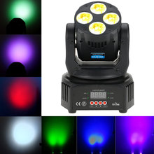 2017 New Arrival 60W DMX512 Master-Slave Dj Christmas Party Light Moving Head Disco Light RGBW Washing Effect Sound Stage Light(China)