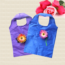 Foldable Shopping Bag Cute Rose Flower Organizer Beautiful Reusable Bag Hot Selling Home Eco bag Storage Handbag(China)