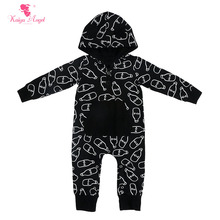 Kaiya Angel 2017 Christmas Mickey Mouse Hooded Jumpsuit Baby Boys Long Sleeve Cotton Rompers With Pocket Toddler Clothing 0-24M(China)