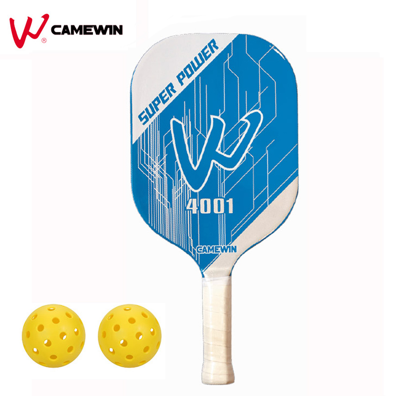 1 Piece Pickleball Racket Paddle CAMEWIN Brand Pickleball Paddle Set ( 1 Racket + 2 Balls + 1 Bag) Colour: Blue White<br>