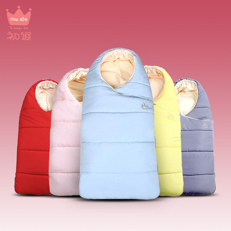 Chuxia Baby sleeping Bag winter Envelope for newborns sleep thermal sack Cotton kids sleepsack in the carriage chlafsack<br>