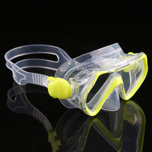 Children Diving Swimming Mask Plain Glasses Tempered Glass Lens Snorkeling free shipping(China)