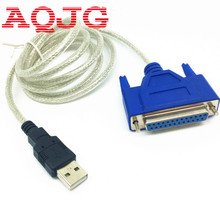 USB2.0 to DB25 female Parallel Printer LPT Cable Adapter New C340 chipest wholesale AQJG