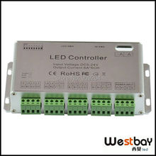 Free shipping 6channel DMX led controller for RGB led lights,dmx decoder, DIY lighting solution controller,DC5-24V input(China)