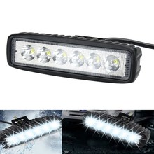 Vehicle 18W Flood LED Work Light ATV Off Road Light Lamp Fog Driving Light Bar For 4x4 Offroad SUV Car Truck Trailer Tractor UTV