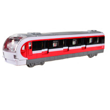 BOHS Electronic Musical And Light Metro Subway Train Pullback Model Diecast Toy Vehicle Models(China)